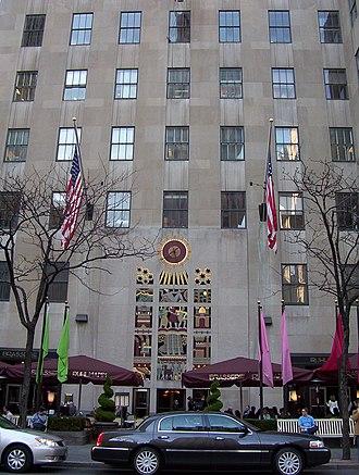 International Building (Rockefeller Center) - Lee Lawrie's stone screen at the International Building's 50th Street entrance