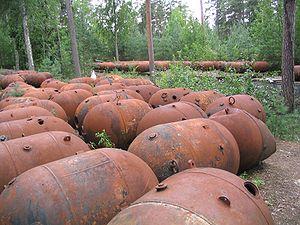 Naissaar - Naval mines dating from the Soviet Union