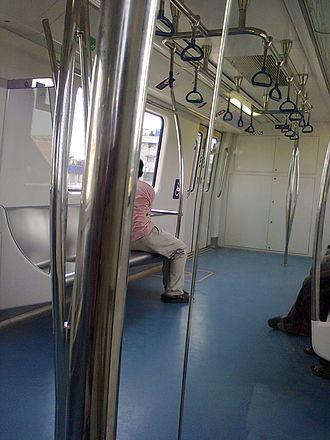 Purple Line (Namma Metro) - Interior of the Metro coach