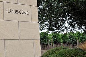 Napa Valley AVA - Opus One vineyard in Napa Valley