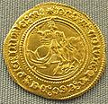 Napoli o gaeta, alfonsino d'oro (mezzo ducato) di alfonso I d'aragona, 1442-1458.JPG