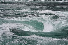 Photograph of the Naruto whirlpools.