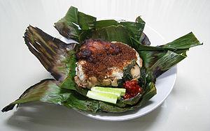 Nasi bakar - Image: Nasi Bakar Ayam