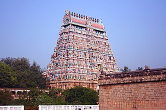 Nataraja Temple, Chidambaram - The main gopuram of Chidambaram Natarajar temple