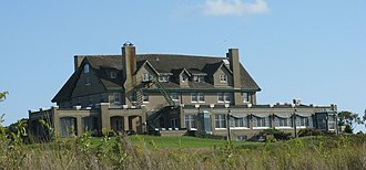 National Golf Links of America - Jarvis Hunt designed the club house that overlooks Peconic Bay