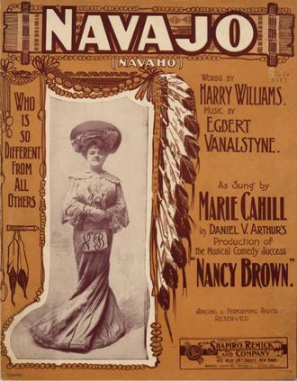 """Egbert Van Alstyne - Cover of 1903 composition """"Navajo"""" by Egbert Van Alstyne"""