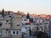 A Nazareth neighborhood at sunset
