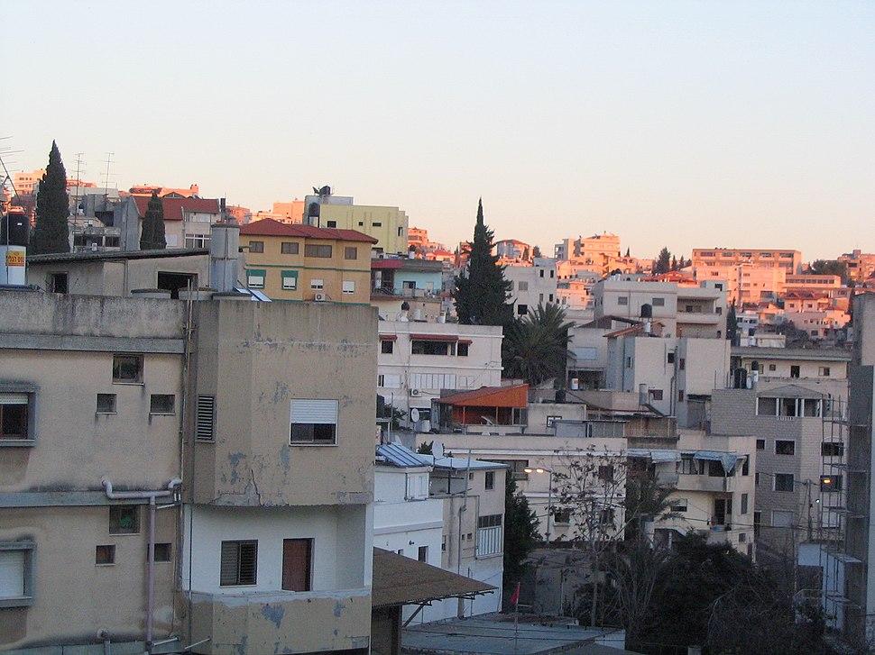 Nazareth neighbourhood at sunset