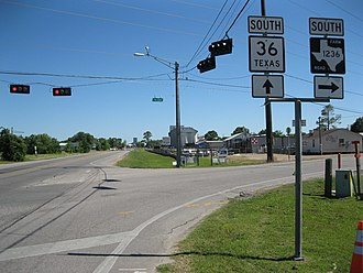 Needville, Texas - Image: Needville TX Hwy 36 at FM 1236