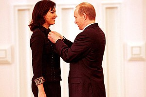 Anna Netrebko - Netrebko and Putin, 2004 Russian Federation National Award