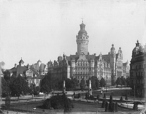 New City Hall of Leipzig, built in 1905 Neues Rathaus Leipzig nach1905.jpg