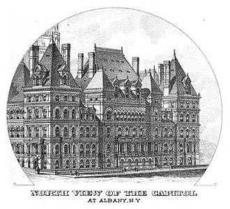 102nd New York State Legislature - Image: New York State Capitol 1879