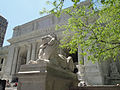 New York Public Library Lion May 2011.JPG