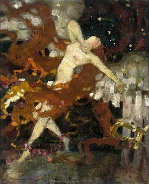Eligiusz Niewiadomski - The Angel of love by Niewiadomski (c. 1900), National Museum in Warsaw