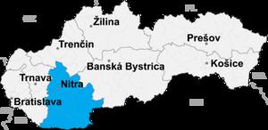 Komárno District - Image: Nitra kraj