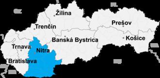 Levice District - Image: Nitra kraj