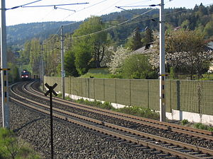 Railway noise barrier / Lärmschutzwand. Locati...