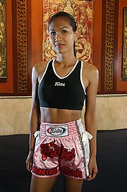 Nong Tum, a Kathoey internationally recognized for her portrayal in the film Beautiful Boxer.