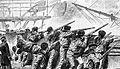 Norddeutsches Kanonenboot SMS METEOR im Gefecht vor Havanna am 9. November 1870.jpg
