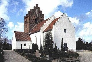 Gundsømagle Town in Zealand, Denmark