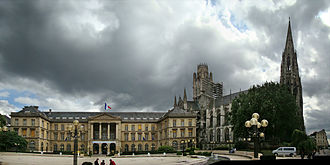 History of Rouen - City Hall and Church of St. Ouen, Rouen