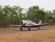 North American AT-6D Harvard III Taxiing at MKT October 2011.jpg