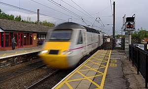 Northallerton railway station - An InterCity 125 passes through the station with a service to London King's Cross