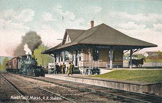 Northfield, Massachusetts - Northfield railroad station in 1911