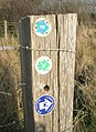 Not one, not two but three footpath plaques - geograph.org.uk - 1215745.jpg