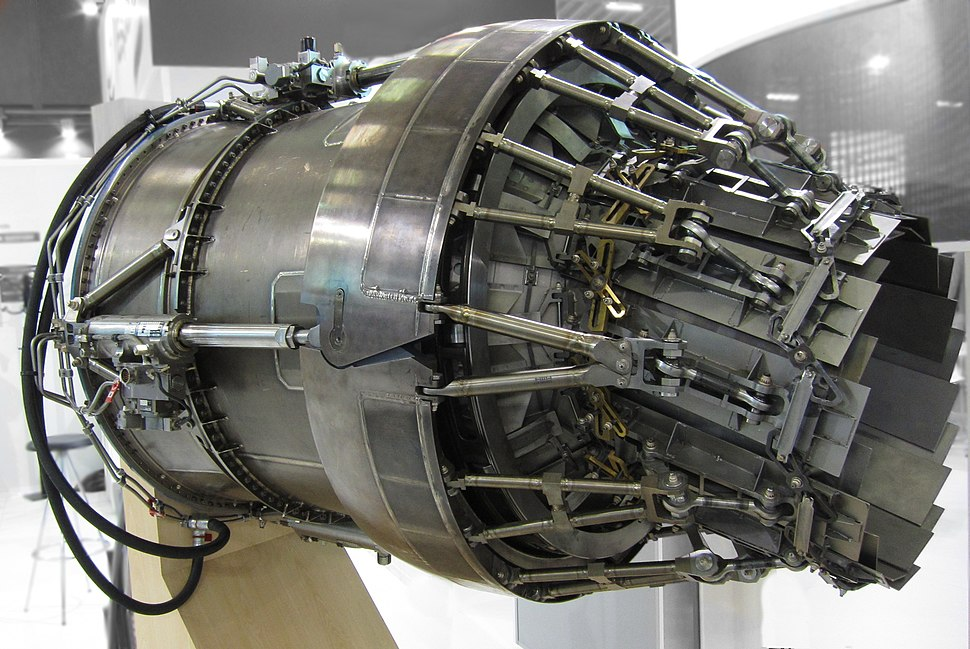 Nozzle of EJ200 afterburning turbofan (5)