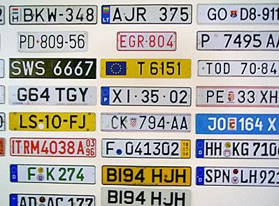 S engleskim registracijskim brojevima