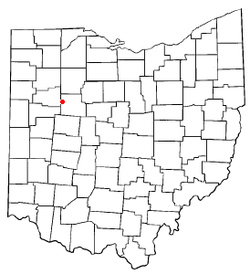 Location of Alger, Ohio