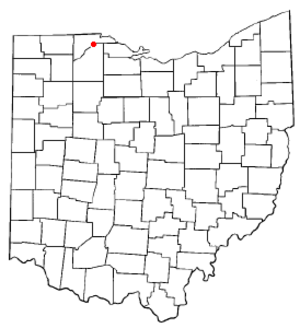 Rossford, Ohio - Image: OH Map doton Rossford