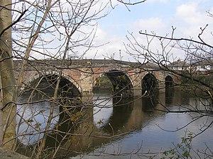English: Old Penwortham Bridge The photo taken...