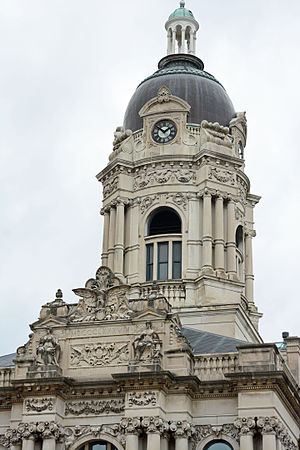 Old Vanderburgh County Courthouse - The tower