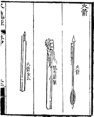 Fire arrow - Image: Oldest depiction of rocket arrows
