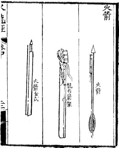Oldest depiction of rocket arrows
