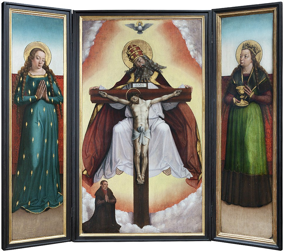 Oltář s Nejsvětější Trojicí, Mistr litoměřického oltáře, Národní galerie v Praze