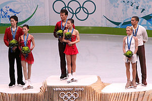 Shen Xue - Shen and Zhao on the podium at the 2010 Winter Olympics.