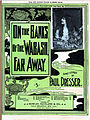 On the Banks of the Wabash, Far Away, sheet music cover with Bessie Davis, Paul Dresser, 1897 edit.jpg