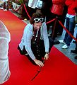 One of press photographers at XXXIV Polish Film Festival in Gdynia 2009 mark point for celebrities.jpg