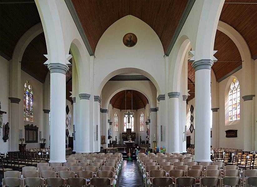 Oostkamp (province of West Flanders, Belgium): St Peter's church - interior