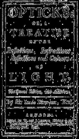 Титульный лист «Оптики» Ньютона