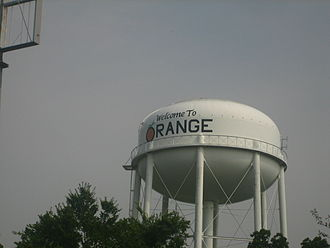 Orange, Texas - Water tower in Orange, Texas