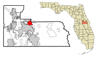Orange County Florida Incorporated and Unincorporated areas Winter Park Highlighted.svg