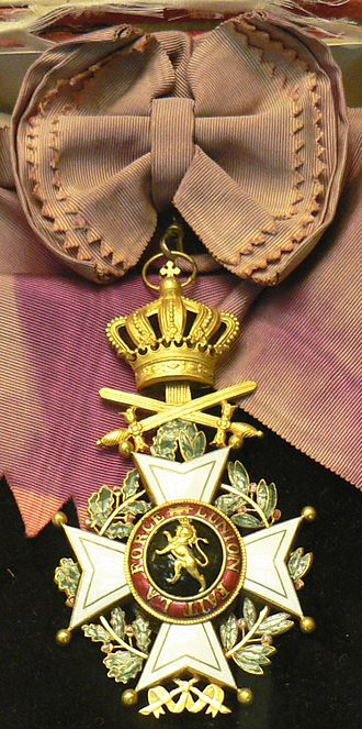 Orders, decorations, and medals of Belgium - Image: Ordre de Leopold CKS extract p 1090312