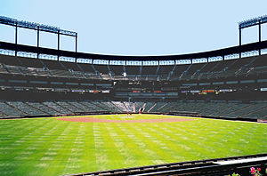 Oriole Park at Camden Yards in Baltimore, Maryland