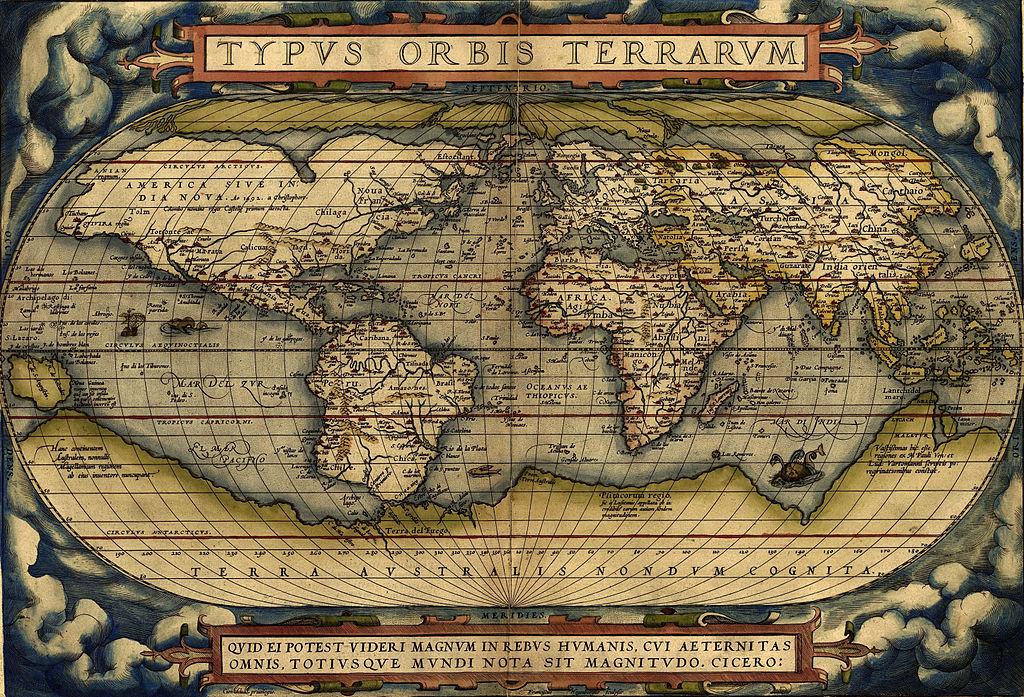 La Terra Australis y el cálculo de la longitud: Mapamundi de Abraham Ortelius (1570)