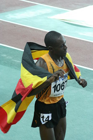 Athletics at the 2010 Commonwealth Games - Moses Ndiema Kipsiro, men's 5000 metres and 10000 metres champion
