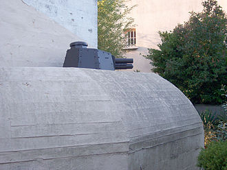 Ouistreham - German bunker in Ouistreham, fitted with the turret of a Renault FT tank.